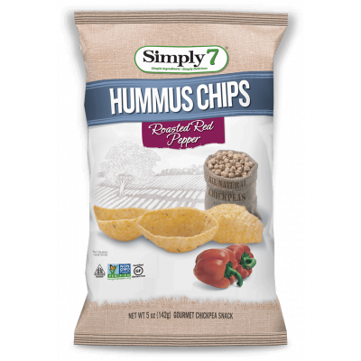 Simply7 Hummus Chips Roasted Red Pepper
