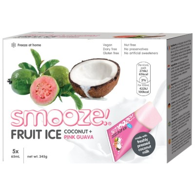 Smooze Fruit Ice Coconut & Pink Guava