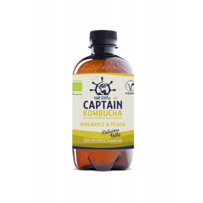 Captain Kombucha Kombucha Pineapple & Peach