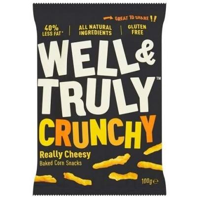 Well & Truly Corn Snacks Crunchy Really Cheesy 100 Gram