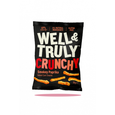 Well & Truly Corn Snacks Crunchy Smokey Paprika