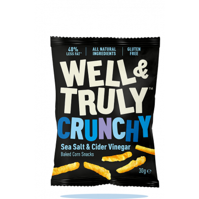 Well & Truly Corn Snacks Crunchy Sea Salt & Cider Vinegar
