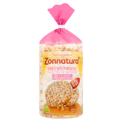Zonnatura Boekweitwafels Quinoa & Lijnzaad