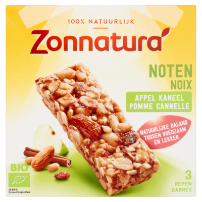 Zonnatura Noten Appel Kaneel Repen 3-Pack