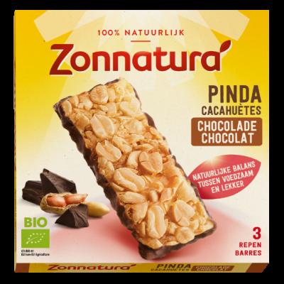 Zonnatura Pinda Chocolade Repen 3-Pack