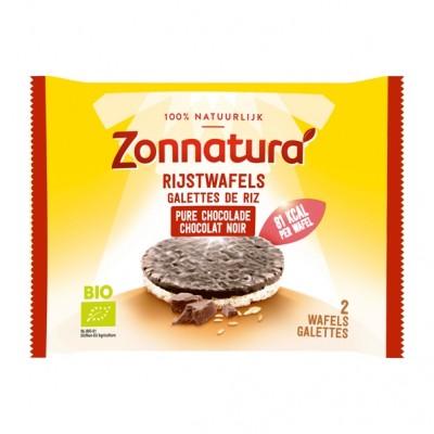 Zonnatura Rijstwafels Chocolade Puur Duo-pack