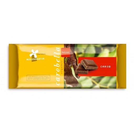 Carobe Tablet Naturel 100 gram van Molenaartje
