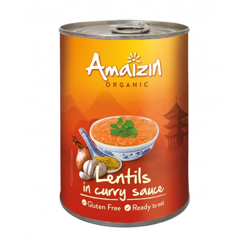 Linzen in Curry Saus van Amaizin