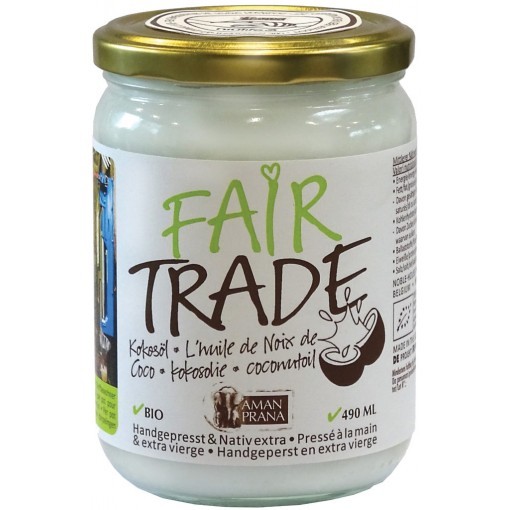 Kokosolie Fair Trade 490 ml van Aman Prana