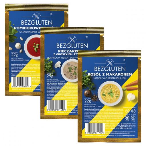 Instant Soep Proefpakket (3 smaken) van Bezgluten