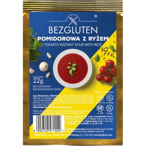 Tomatensoep met Rijst van Bezgluten