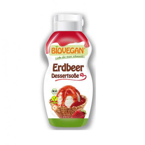 Dessertsaus Aardbei van Bio Vegan