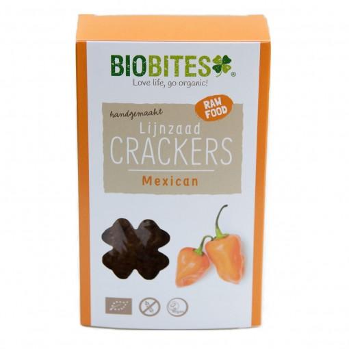 Lijnzaad Crackers Mexican van Biobites