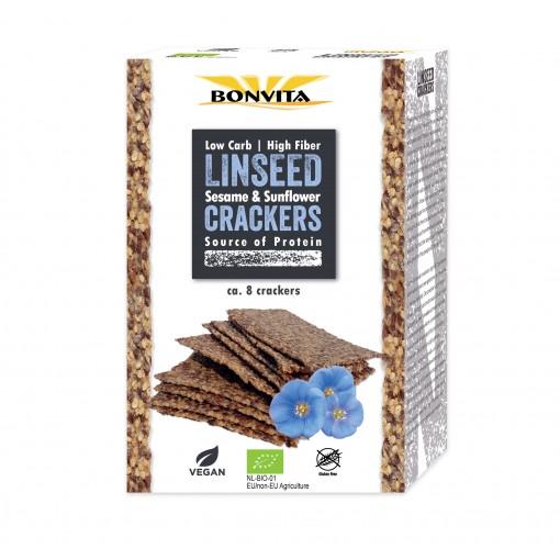 Lijnzaadcrackers Sesame & Sunflower van Bonvita