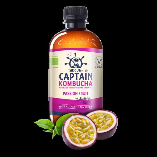 Kombucha Passion Fruit van Captain Kombucha