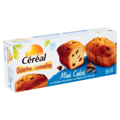 Mini Cakes Met Stukjes Chocolade van Céréal