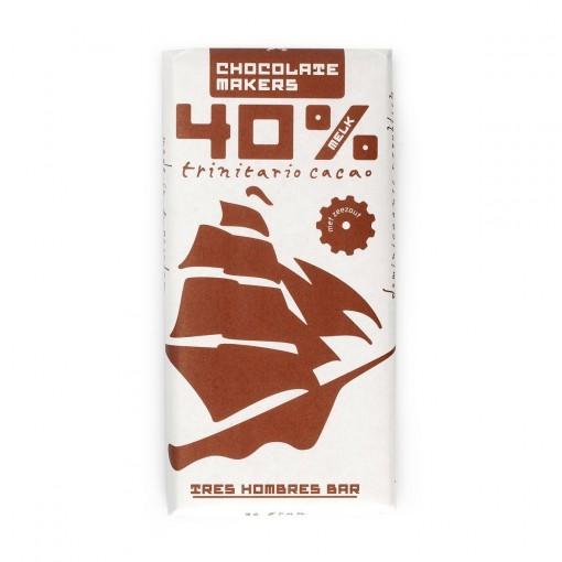 Tres Hombres Chocoladetablet Melk 40% van Chocolatemakers