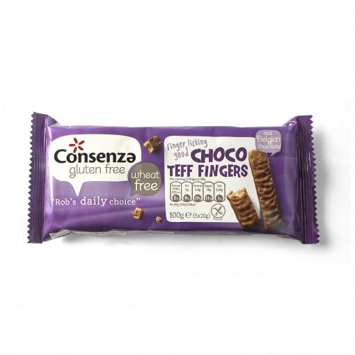 Choco Teff Fingers van Consenza