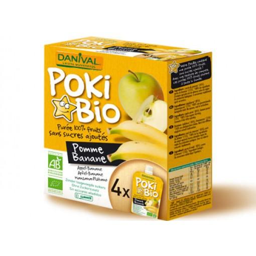 Knijpfruit Poki Bio Appel-Banaan van Danival