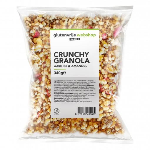 Crunchy Granola Aardbei & Amandel van Glutenvrije Webshop Basics