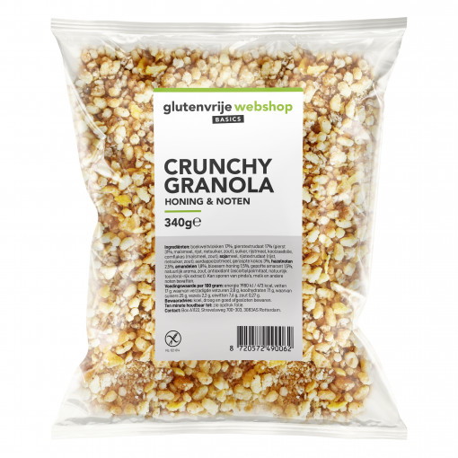 Crunchy Granola Honing & Noten van Glutenvrije Webshop Basics