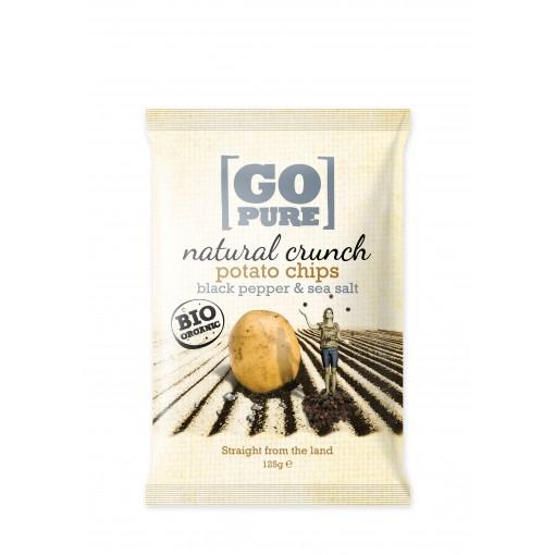 Natural Crunch Potato Chips Black Pepper & Sea Salt van GoPure