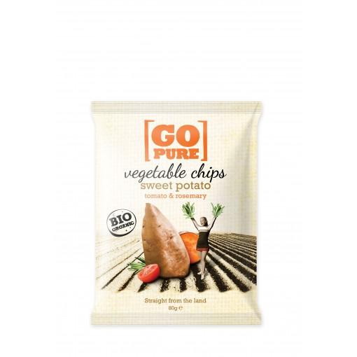 Vegetable Chips Sweet Potato, Tomato & Rosemary van GoPure
