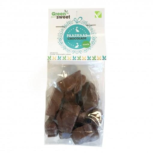Paashaasjes Stevia Melk Chocolade van Greensweet