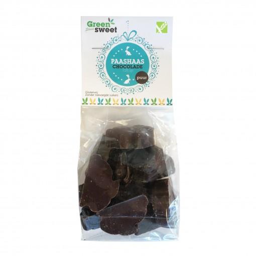 Paashaasjes Stevia Puur Chocolade van Greensweet