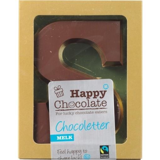 Chocoletter Melk van Happy Chocolate
