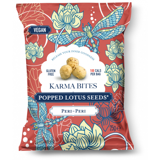 Popped Lotus Seeds Peri Peri van Karma Bites