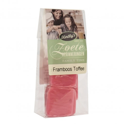Frambozen Toffee van Kindly's