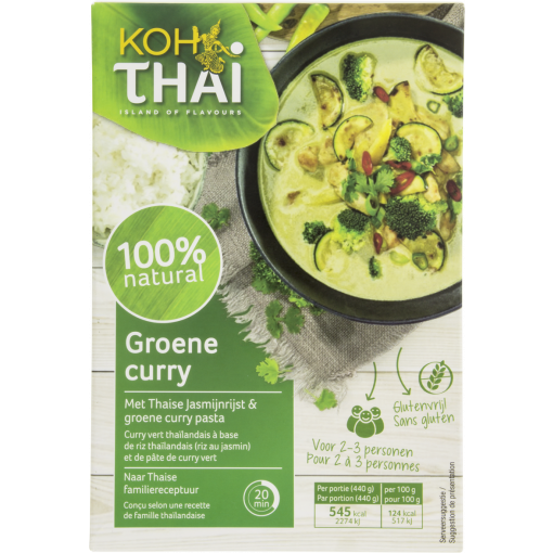 Groene Curry Maaltijdpakket van Koh Thai