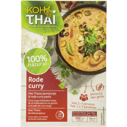 Rode Curry Maaltijdpakket van Koh Thai