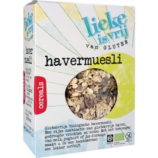 Havermuesli van Lieke is vrij