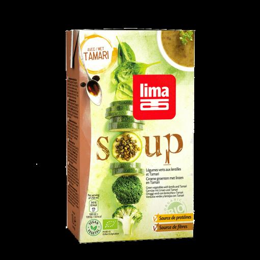 Groene Groentensoep Met Linzen En Tamari van Lima
