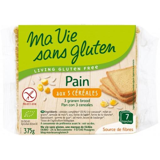 Drie Granen Brood van Ma Vie Sans Gluten