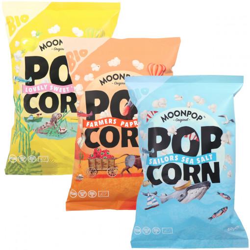 Popcorn Proefpakket (3 smaken) van Moonpop
