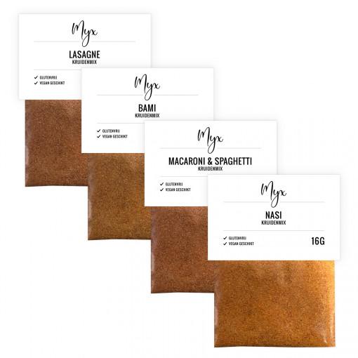 Maaltijd Kruidenmix Proefpakket (4 soorten) van Myx
