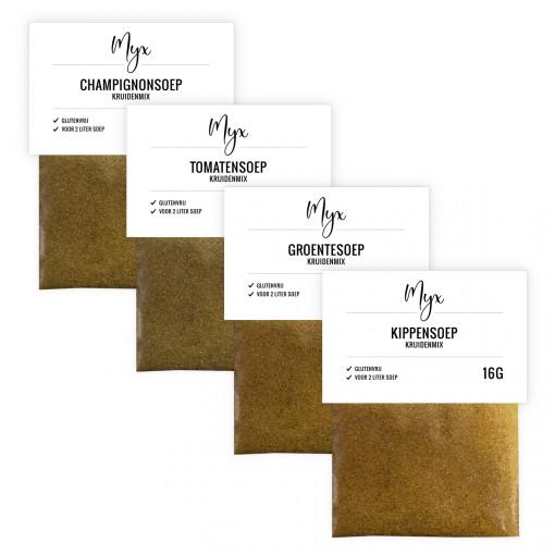 Soep Kruidenmix Proefpakket (4 soorten) van Myx