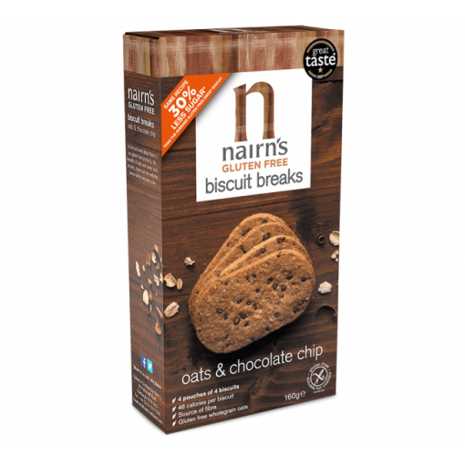 Biscuit Breaks Haver & Chocolate Chip van Nairn's