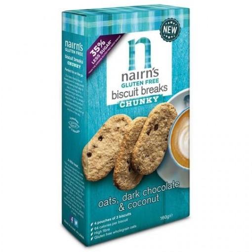 Biscuits Breaks Chunky Oats, Dark Chocolate & Coconut van Nairn's