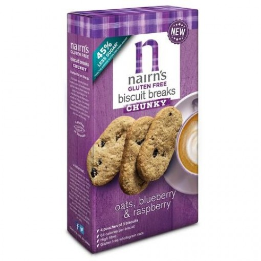 Biscuits Breaks Chunky Oats, Blueberry & Raspberry van Nairn's