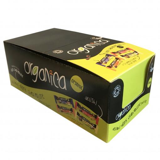 Chocolade & Abrikoos Bar (Doos - 24 stuks) van Organica