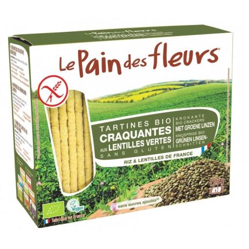 Groene Linzen Crackers van Le Pain des Fleurs