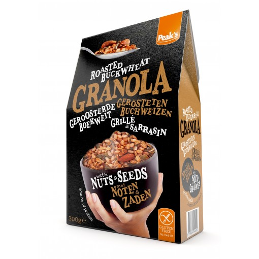 Granola Roasted Boekweit Noten & Zaden van Peak's