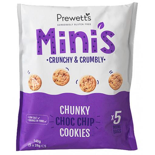 Multipack Mini's Chunky Choc Chip Cookies (T.H.T. 02-2021) van Prewetts