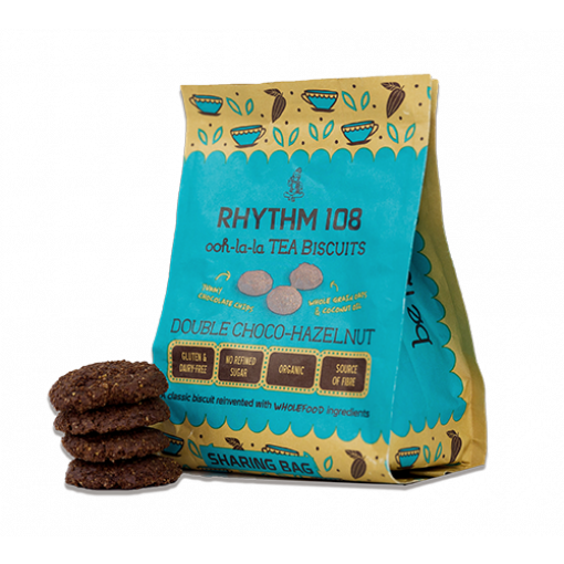 Double Choco Hazelnut Biscuits van Rhythm 108