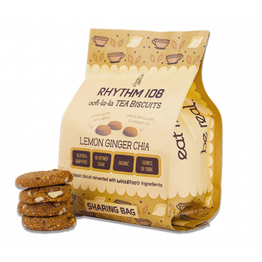 Lemon Ginger Chia Biscuits van Rhythm 108