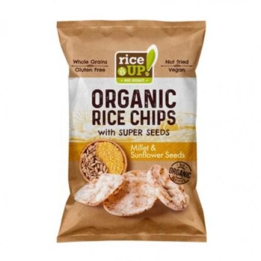 Rijst Chips Gierst & Zonnebloempitten van Rice UP